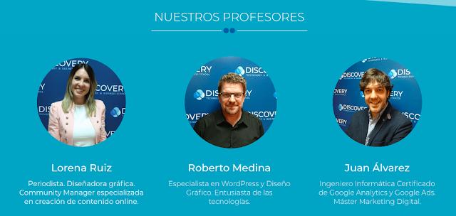 Profesores curso online Discovery Formacion