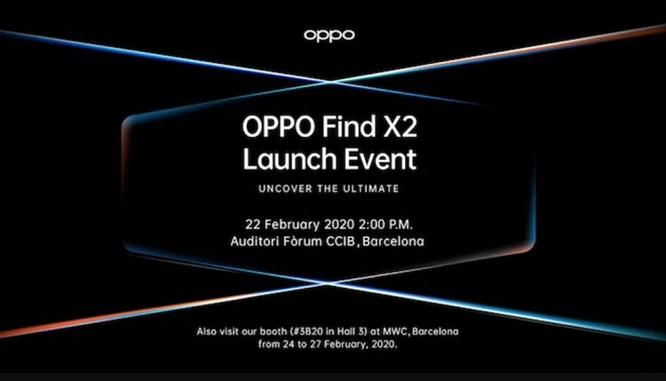 OPPO to Launch Find X2 at MWC 2020