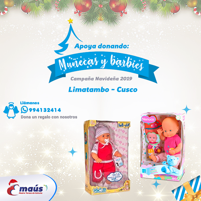 """""""Dona juguetes para niñas Navidad 2019"""""""