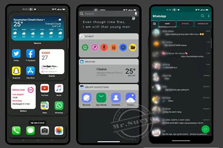 Tema iOS 14 Dark Mode Untuk Oppo Tembus WA Dan Semua Aplikasi