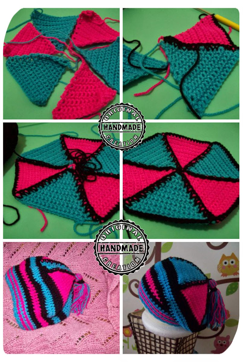 Crochet triangle hat instructions