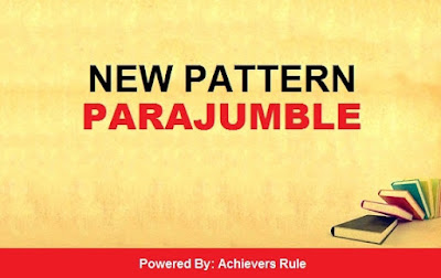New Pattern English Quiz: Parajumble