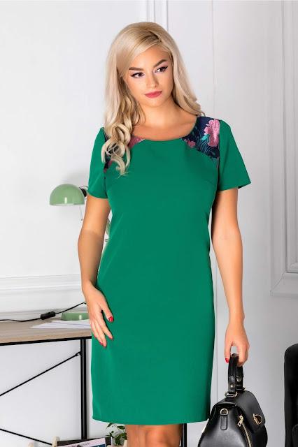 rochie office verde