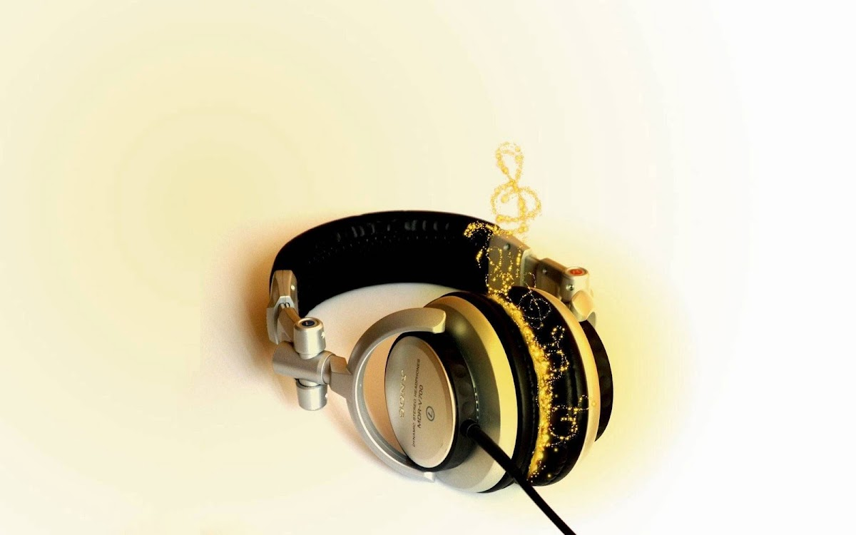 Amazing Headphone Widescreen HD Wallpaper 6