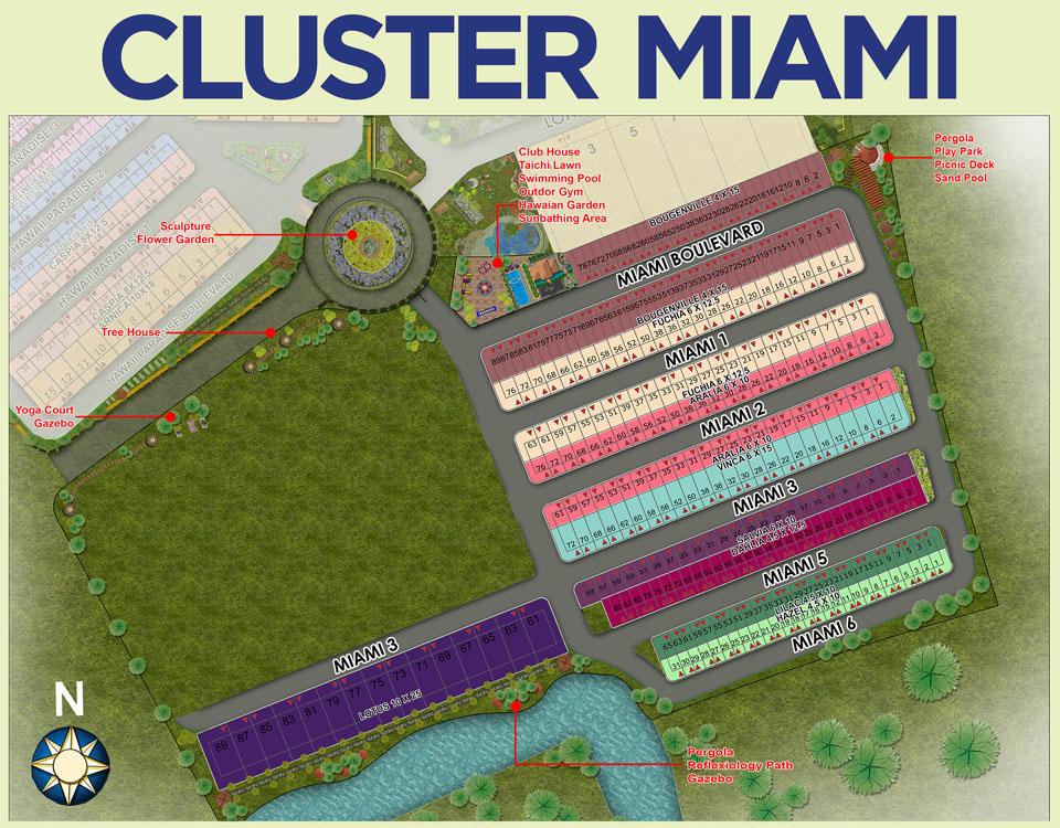 Site Plan Cluster MIAMI PIK 2 Jakarta