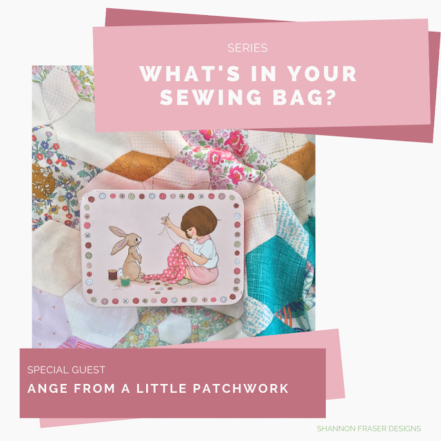 Belle & Boo sewing tin on top of EPP quilt | What's in your sewing bag? | Shannon Fraser Designs