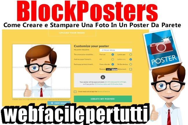Blockposters come creare e stampare una foto in un poster da parete web facile per tutti - Poster grandi da parete ...