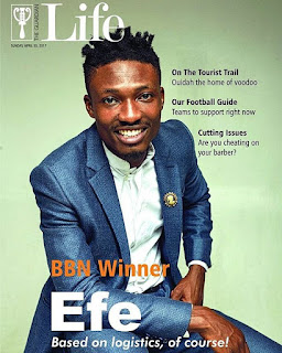 Based On Logistics! #BBNaija 2017 Winner Efe Covers The Latest Issue Of Guardian Life Magazine 1