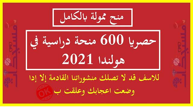 حصريا 600 منحة دراسية في هولندا 2021 | ممولة بالكامل