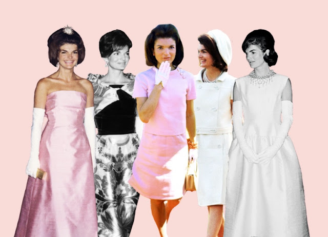 First Lady Jackie Kennedy fashion and style in dresses