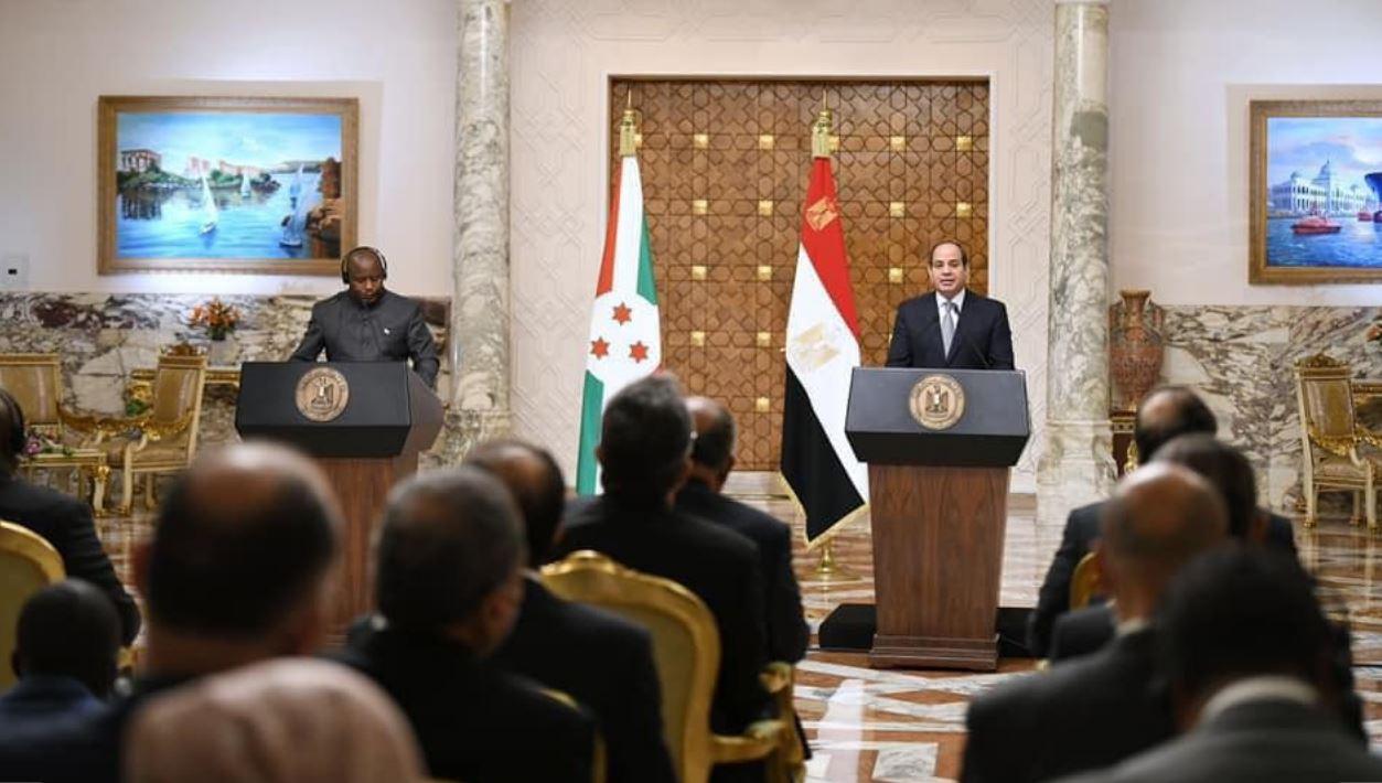 """بحضور السيسي و""""ندايشيمي"""".. مراسم توقيع مذكرات تفاهم مشتركة بين مصر وبوروندي"""