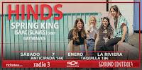 Concierto de Hinds, Waywaves, Spring King e Isaac en La Riviera