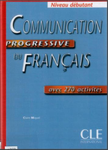 Communication Progressive Du Français Débutant