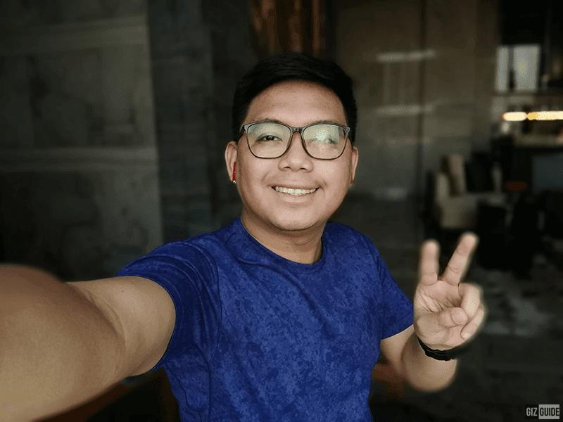 Selfie with Portrait mode