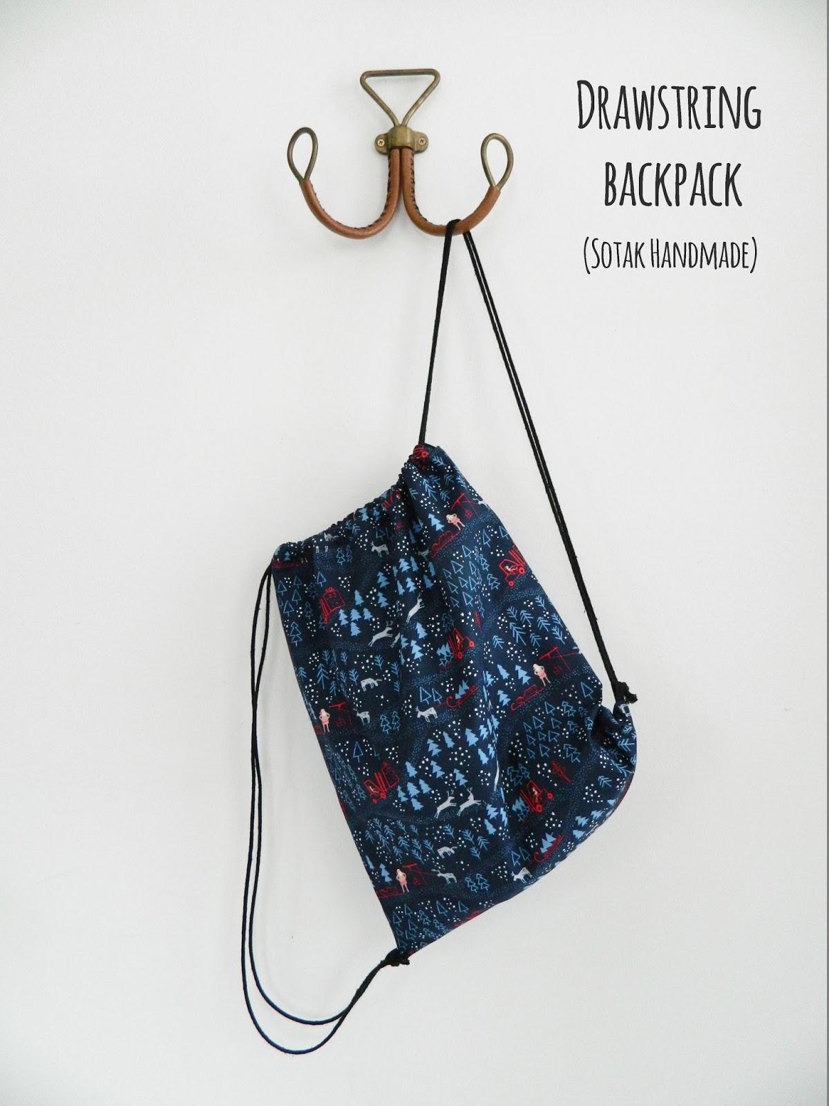 S O T A K Handmade Drawstring Backpack A Free Tutorial