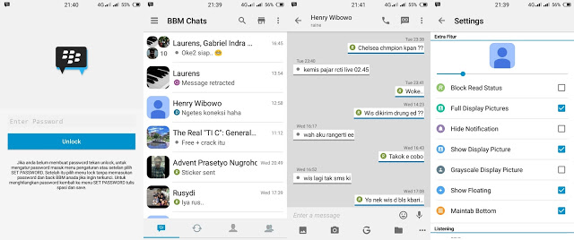 Download BBM Mod iPhone Theme Versi 2.13.1.14