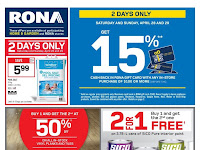 Rona Flyer valid April 26 - May 2, 2018