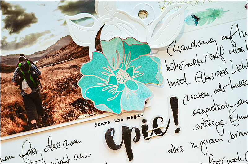 Stephanie Berger - Scrapbooking - Altenew refelctions - Dear Lizzy American Crafts Serendipity - Madeira - Layout