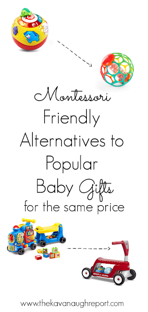 Montessori friendly alternatives to popular baby toys