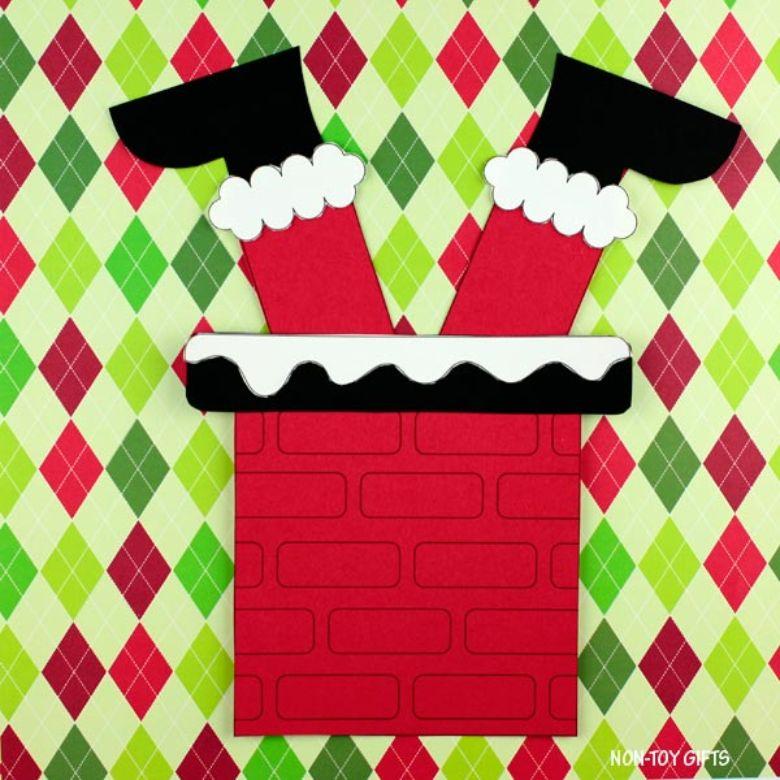 Santa stuck in a chimney craft