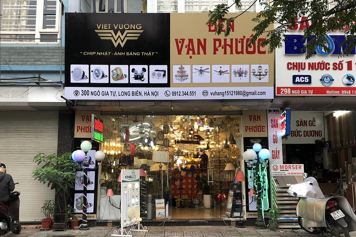 Cửa hàng Đèn Vạn Phước ở 300 Ngô Gia Tự - Long Biên