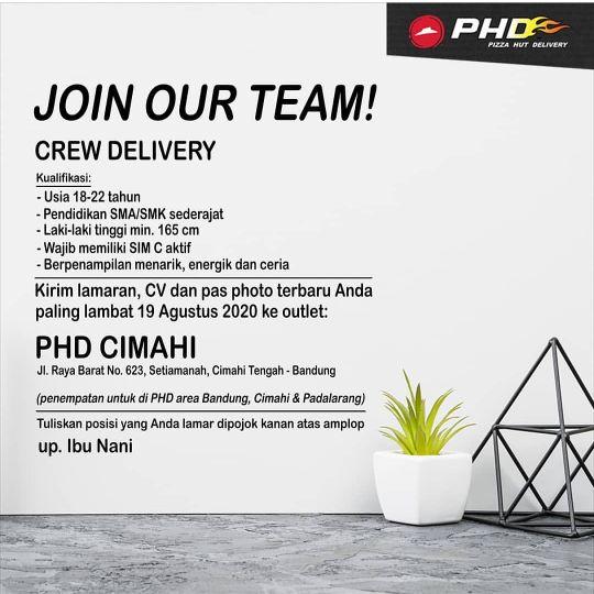 Lowongan Kerja Phd Pizza Hut Delivery Cimahi 2020 Lokerhariini Com