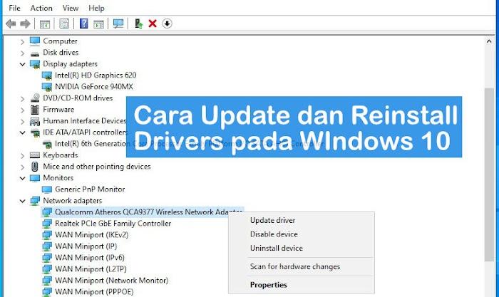 Cara Mudah Update dan Reinstall Drivers pada Windows 10