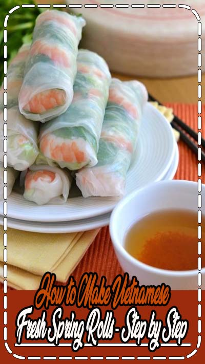 Follow my step-by-step recipe to make the most amazing Vietnamese Spring Rolls at home! Filled with cooked shrimp, mint leaves, bean sprouts and vermicelli noodles, these summer rolls make for an Asian appetizer or healthy light meal