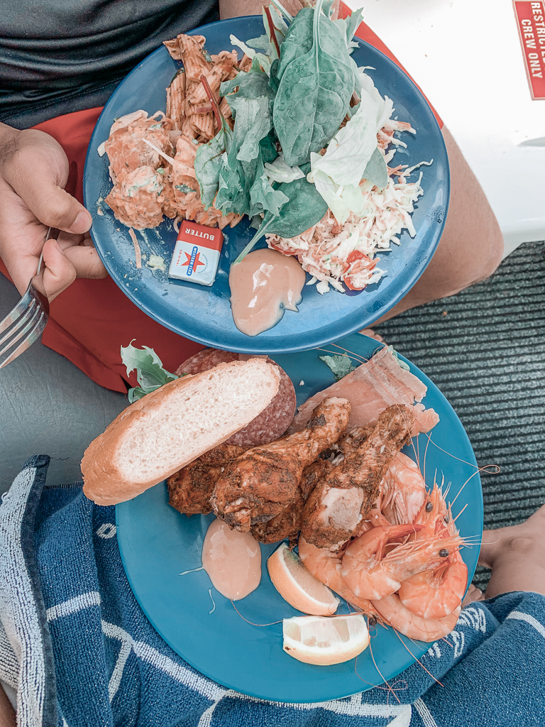Food on great barrier reef tour