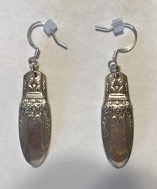 earring made of silver spoon handles
