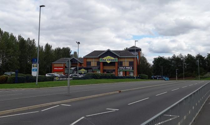 The former Blockbuster at Rampart Way, Telford, Shropshire (September 2020)