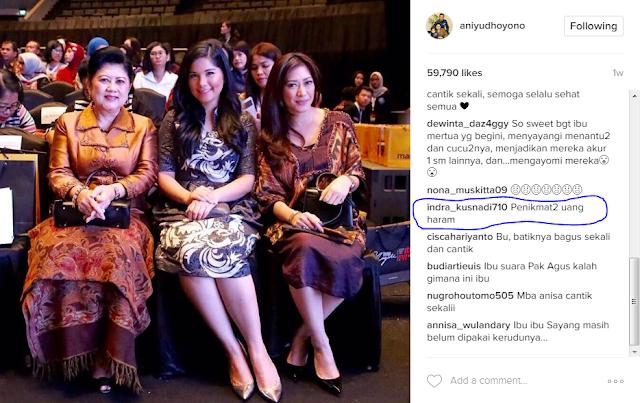 Ani Yudhoyono di Bully Gara-gara Upload Foto Ini .