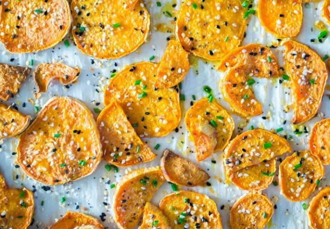 Everything Seasoning Roasted Sweet Potatoes #healthyfood #dietketo