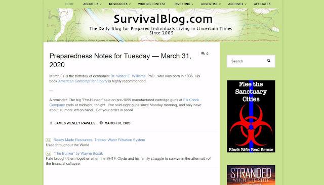 19. Survival Blog