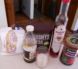 Raspberry-Filled Chocolate Cake Ingredients