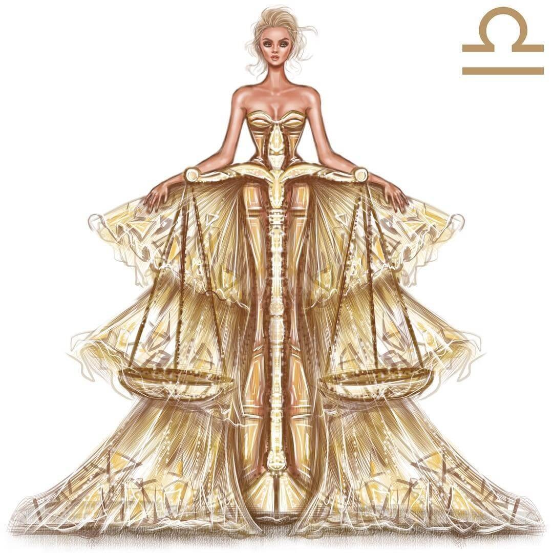 07-Libra-Shamekh-Bluwi-Zodiac-Haute-Couture-Exquisite-Fashion-Drawings-www-designstack-co