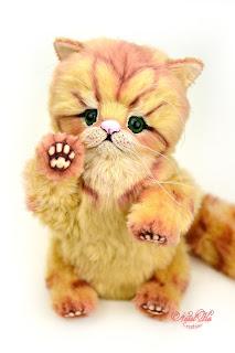 Artist teddy kitten, ooak cat, handmade kitten, NatalKa Creations, teddies with charm, Teddy Katze, Teddy Kater, buy teddy kitten, Kätzchen kaufen, Teddy kaufen