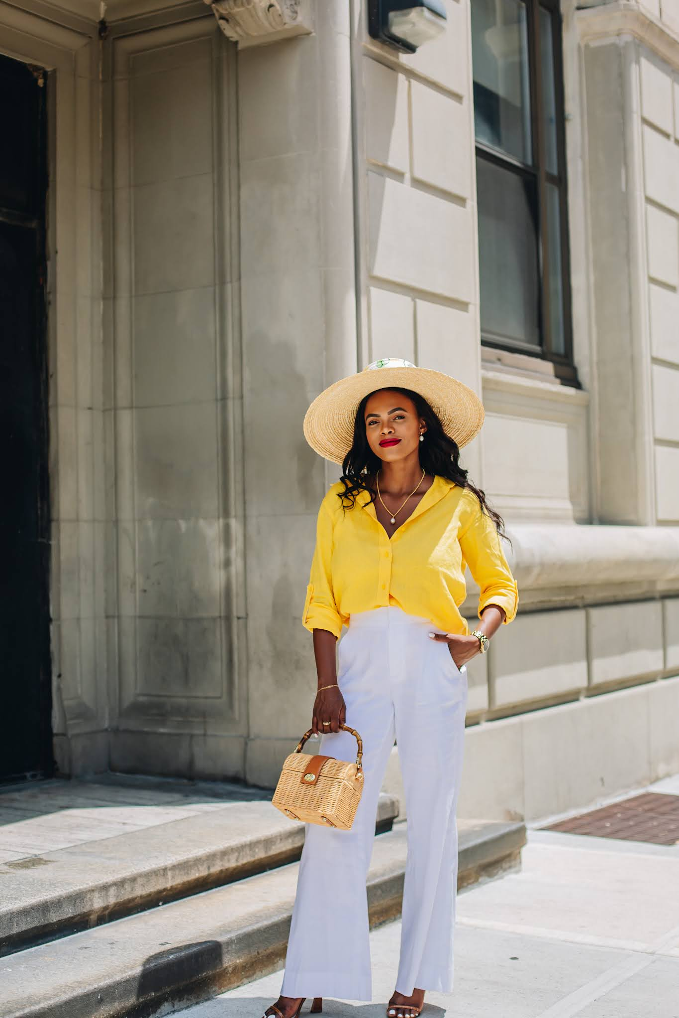 Yellow Linen Shirt