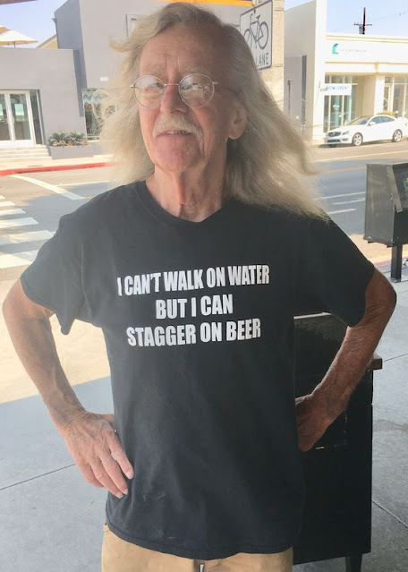 I Can't Walk On Water But I Can Stagger On Beer funny t-shirt.  PYGear.com