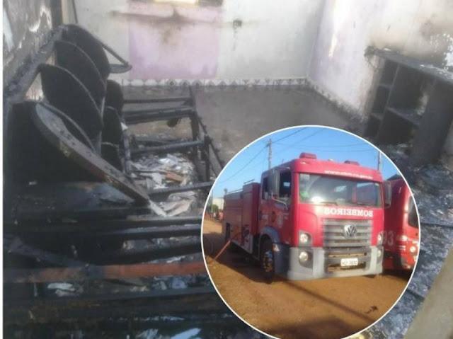 Criança 03 anos morre em incêndio; bombeiros estão no local