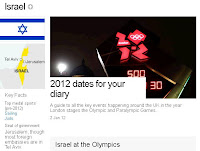 BBC's Israel Olympics page