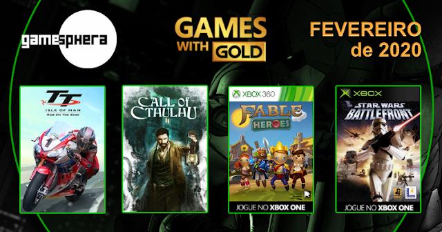 Games With Gold - Fevereiro de 2020