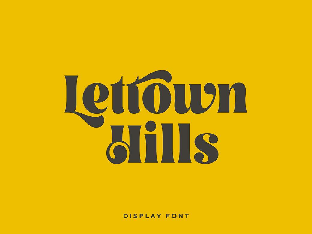 Lettown Hills Font