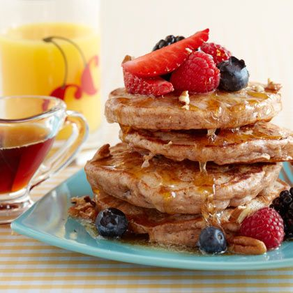 Lemon-Pecan Pancakes