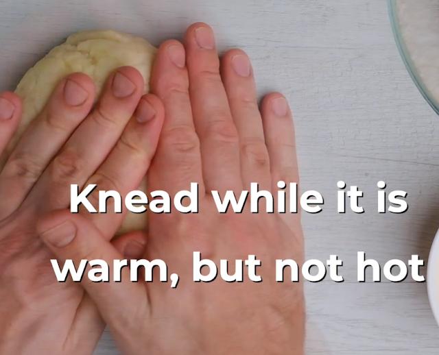 knead coxinha dough