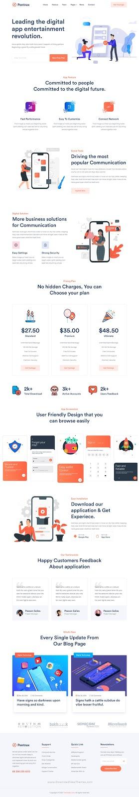 Best Creative App Landing Template