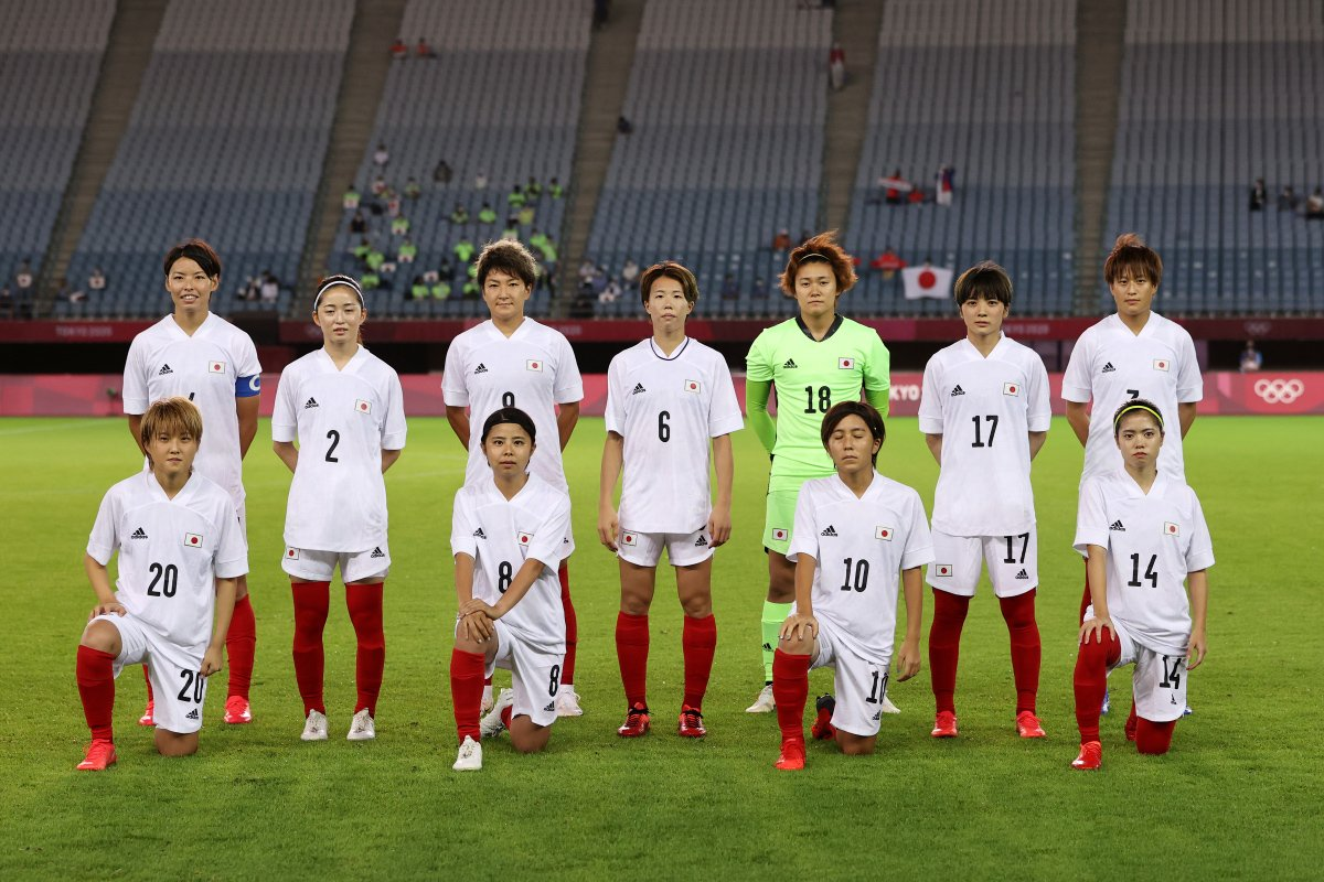 Formación de selección femenina de Japón ante Chile, Juegos Olímpicos de Tokio 2020, 27 de julio de 2021