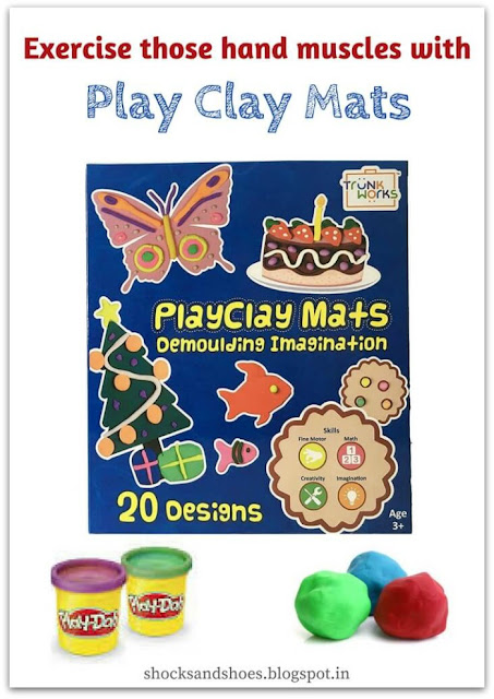 Exercise those Hand Muscles with Play Clay Mats! Learn counting, recognition and lots more!
