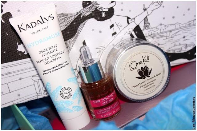 Contenu box beauté Quejadore Paris : Kadalys, Lys cosmétiques et Loren Kadi - Blog