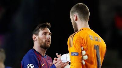 Messi e De Gea, Barcelona e United (Foto: REUTERS/Susana Vera)